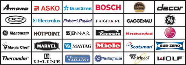 Brands on thermador range